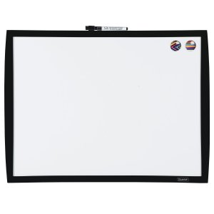 """Quartet Magnetic Dry-Erase Board, 17""""x23"""", Black Frame (34608-BK)"""
