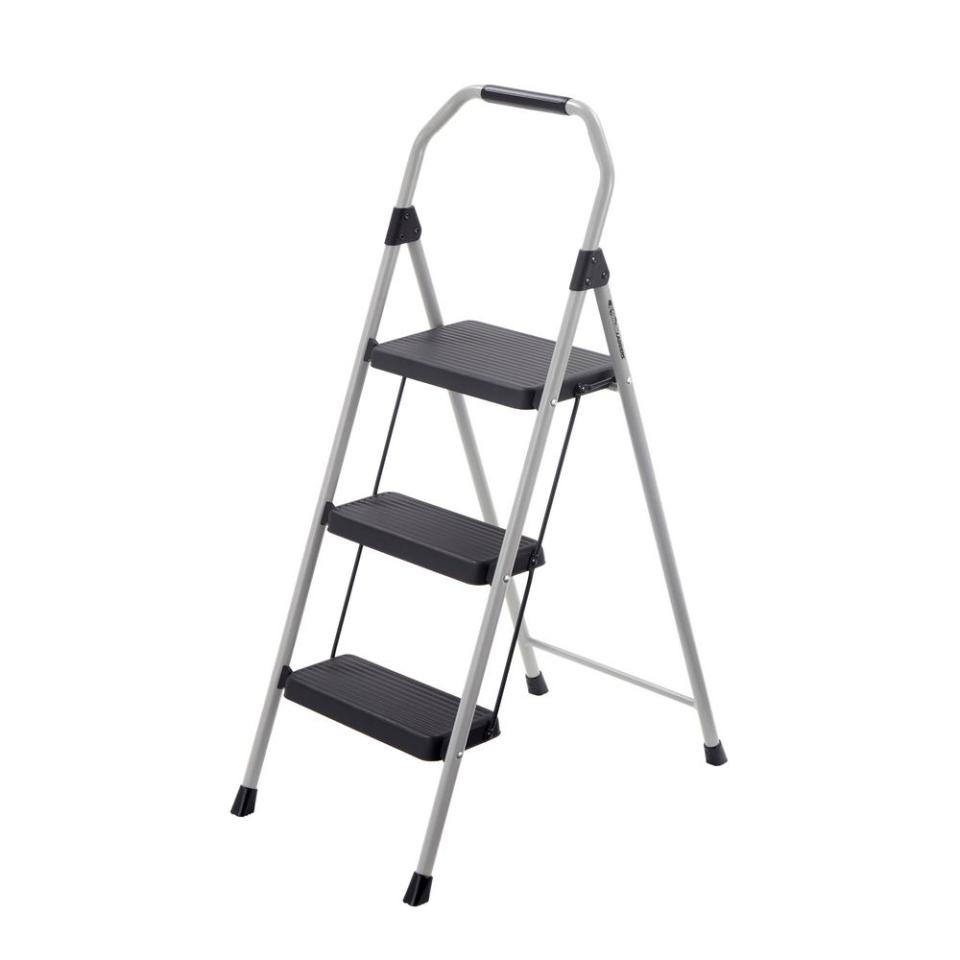 3-Step Compact Steel Step Stool with 225 lb. Load Capacity Type II Duty Rating