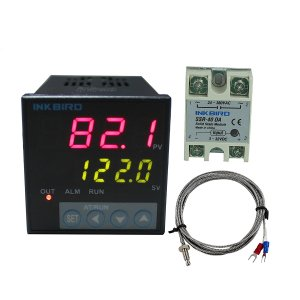 Inkbird ITC-106VH PID Temperature Thermostat Controllers, Fahrenheit & Centigrade, 100ACV - 240ACV, K Sensor, Solid State Relay for Sous Vide, Home Brewing (ITC-106VH + K + 40A SSR)