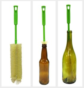 "Original 17"" Long Bottle Brush Cleaner for Washing Beer, Wine, Kombucha, Decanter, Narrow Neck Brewing Bottles"