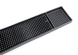 New Star 48438 Rubber Bar Service Mat, 26.5-Inch by 3.25-Inch, Black