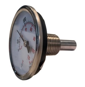 "CNS Gauges 2.5"" Dial x 1.5"" Stem Brewing/Distilling Thermometer with 1/2"" NPT"