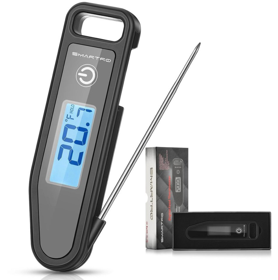 SMARTRO Instant Read Digital Meat Thermometer for Kitchen Cooking Food Grill Candy BBQ