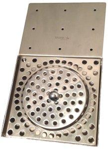 Krome Dispense Glass Rinser Drip Tray