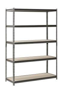 "Muscle Rack UR481872PB5P-SV Silver Vein Steel Storage Rack, 5 Adjustable Shelves, 4000 lb. Capacity, 72"" Height x 48"" Width x 18"" Depth"