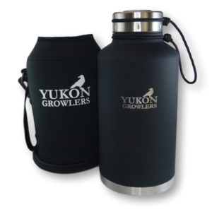 NEW IMPROVED Vacuum-Insulated Stainless Steel Growler - 64 oz - Keep Your Beer Cold and Carbonated for 24 Hours or Coffee Hot for 12 Hours - Double-Walled Water Bottle by Yukon Growler