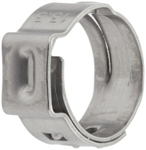 Oetiker 16700010 Stepless Ear Clamp, One Ear, 7 mm Band Width, Clamp ID Range 10.8 mm (Closed) - 13.3 mm (Open) (Pack of 25)