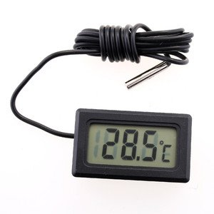 Kingzer Digital LCD Thermometer Temperature Sensor for Refrigerator Freezer