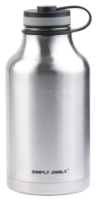 Simply Simily Beer Growler and Stainless Steel Water Bottle - BPA Free - Wide Mouth - Double Wall Vacuum Insulation, 64 oz