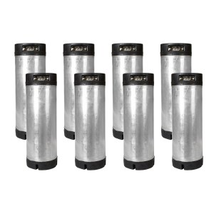 5 Gallon Ball Lock Keg Eight Pack with O-Ring Kit – Dual Handle – Reconditioned