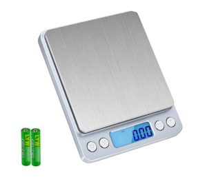 Digital Food Scale, SKYROKU High-precision Kitchen Scale Multifunction Digital Pocket Scale with LCD Display 6lb/3kg (Batteries Included)