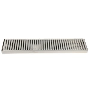 "YaeBrew 19"" x 4"" Rectangular Stainless Steel Beer Drip Tray , No Drain , Surface Mount"