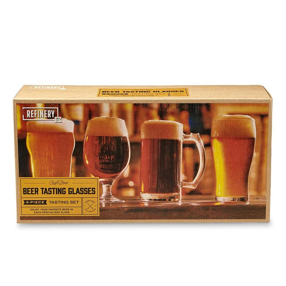 4-Piece Beer Tasting Glasses Set