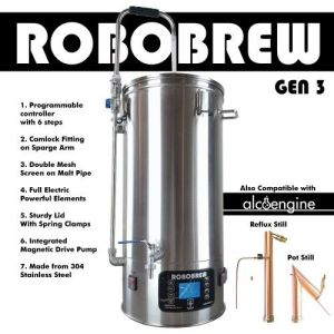 IN STOCK Robobrew V3 All In One Brewing System with Pump 9.25 Gallon FREE Jacket