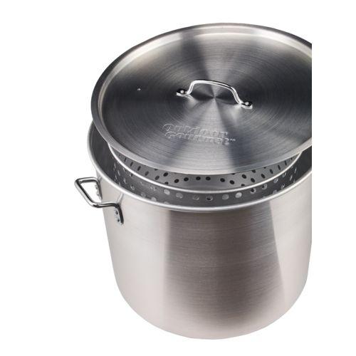 Outdoor Gourmet 80 qt. Aluminum Pot with Strainer