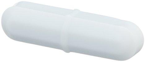 Bel-Art Spinbar Teflon Octagon Magnetic Stirring Bar; 25.4 x 9.5mm, White (F37110-0138)
