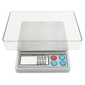 Digital Pocket Food Scale, Toprime 600g 0.01g High Precision Postage Gram Jewelry Kitchen Scale, Gray