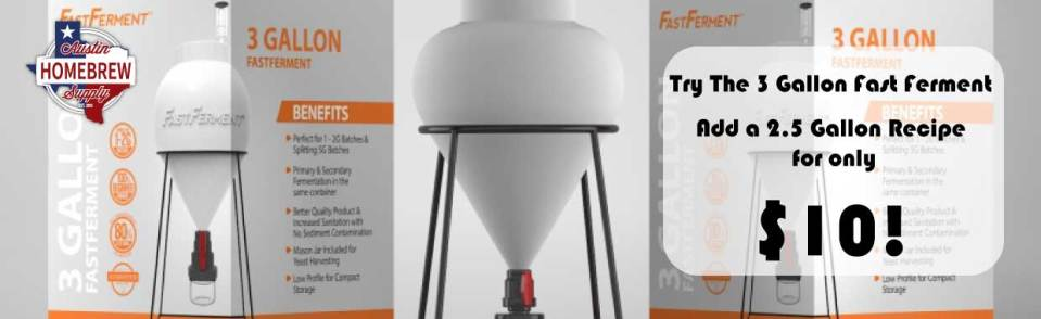 FastFerment Plastic Conical Fermenter - 3 Gallon