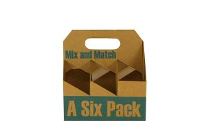 "Inno-Pak 096554618 Corrugated Beer Carrier, Mix-Match, 8"" x 5.25"" x 8.25"" (Pack of 75)"