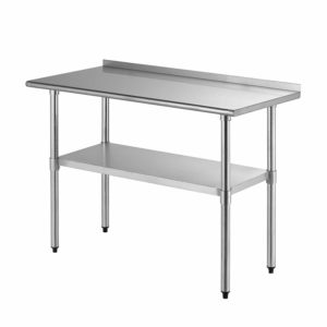 Outstanding 24 X 48 Stainless Steel Work Table W Backsplash Ibusinesslaw Wood Chair Design Ideas Ibusinesslaworg