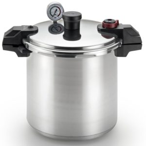 T-fal Pressure Canner, Pressure Cooker with 2 Racks and 3-PSI Settings, 22-Quart, Silver, Model 931052