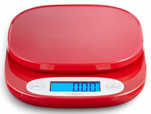 Ozeri ZK420 Garden and Kitchen Scale, with 0.5 g (0.01 oz) Precision Weighing Technology, in Red