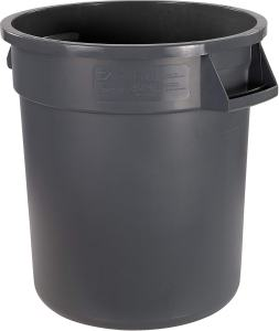 Carlisle 34101023 Bronco Round Waste Container Only, 10 Gallon, Gray