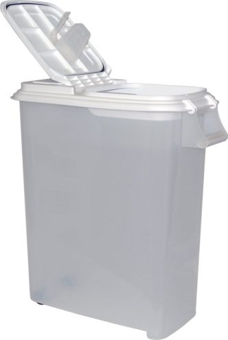 Buddeez XXLarge (80QT) Fresh Dry Dog & Cat Food Plastic Storage Container with Locking Flip Lid