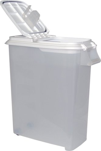 Buddeez XXLarge (80QT) Fresh Dry Dog & Cat Food Plastic Storage Container with Locking Flip Lid