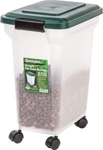 IRIS Remington Airtight Pet Food Storage Container, 22-Pounds, Hunter Green