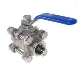 "Agile-shop 1 PCS DN15 1/2"" Female 3 Chip 304 Stainless Steel Straight Ball Valve"