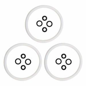 Ferroday 3 Pcs/lot Keg Seal Kit Silicone Keg Lid O Ring Replacement Gasket O-Ring Set For Cornelius/Corny Type Keg (White)
