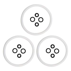 Ferroday 3 Pcs/lot Keg Seal Kit Silicone Keg Lid O Ring Replacement Gasket O-Ring Set For Cornelius/Corny Type Keg (White)