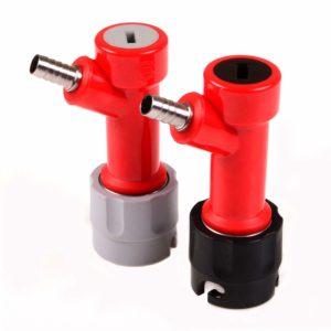 Ferroday Pin Lock Liquid and Gas Disconnect Set (1/4'' Barb)