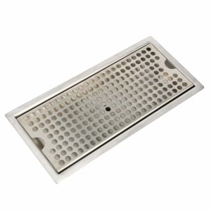 YaeBrew Beer Drip Tray Stainless Steel Flush Mount Drip Tray w/Drain 12""