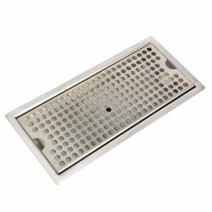 "YaeBrew Beer Drip Tray Stainless Steel Flush Mount Drip Tray w/Drain 12"""