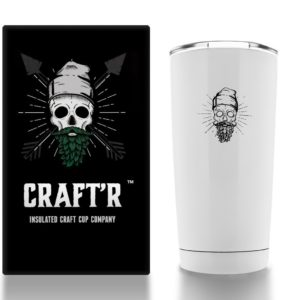 Craftr Insulated Beer Glass - Stainless Steel Vacuum Insulated Tumbler