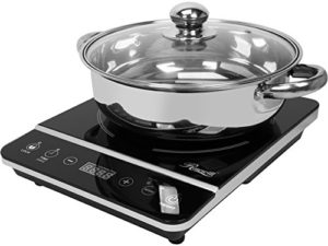 "Rosewill Induction Cooker 1800 Watt, Induction Cooktop, Electric Burner with Stainless Steel Pot 10"" 3.5 QT 18-8, RHAI-13001"