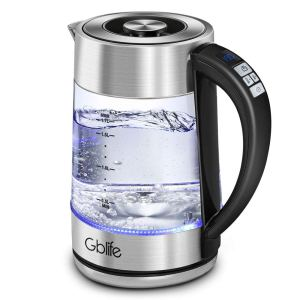 Electric Kettle Variable Temperature Tea Kettle, Gblife Electric BPA Free Glass Kettle 1.7L 1500 Watt Fast Boiling with Auto Shut-Off, Boil-Dry Protection for Coffee & Tea Brewing