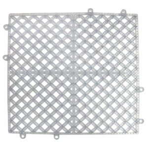 "Update International BMI-12CL Interlocking bar Mat Square, 12"" x 12"", Clear"