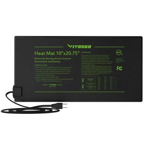 """VIVOSUN 2 Pack Durable Waterproof Seedling Heat Mat Warm Hydroponic Heating Pad 10"""" x 20.75"""" MET Standard"""