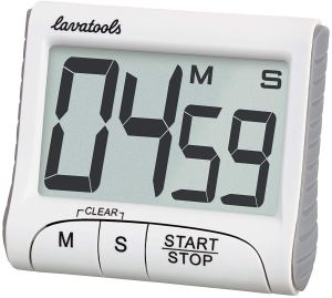 Lavatools KT1 Digital Kitchen Timer & Stopwatch, Large Digits, Loud Alarm, Magnetic Stand