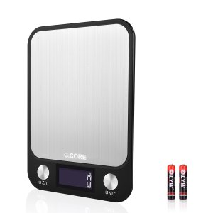 Kitchen Digital Food Scales Small Digital Multifunction Scale 22lb 10kg HD LCD Waterproof Slim Unit Modes Touch Buttons Electronic Cooking Scale Food Grade 304 Stainless Stee