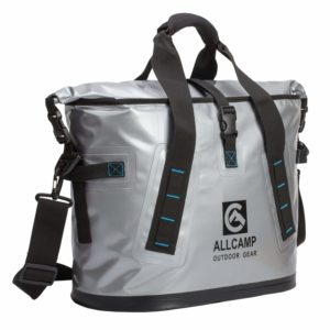 ALLCAMP TLC14002A1MN Hopper Portable Cooler Bag 25L with 5 ice Pack boxs(Solid Silv, Large, Silve