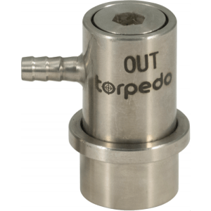 Torpedo Ball Lock Disconnect Beverage Out (Stainless) - Barb KEG737