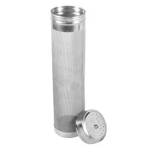 Beer Dry Hopper Filter,Stainless Steel Homebrew Beer Wine Hopper Filter Strainer 300 Micron