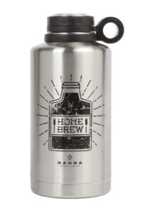 Manna Ring Growler | 64oz Vacuum Insulated Stainless Steel | Craft and IPA Beer Growler | Keeps Beverages Fresh and Cold up to 24 Hours | Lead and BPA Free - Home Brew