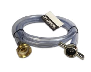 Coldbreak Jockey Box Flush Out Hose, 6' Length, Garden Hose Fitting to Standard Beer Wing Nut, Rinse Out Any Jockey Box with Water
