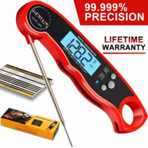 Digital Meat Thermometer Foldable Super Fast BBQ Waterproof Kitchen Food Cooking