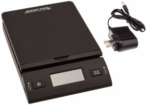 ACCUTECK 50 lb All-in-One Black Digital Shipping Postal Scale with Adapter (W-8250-50B)